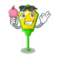 with ice cream lamp post in isolated on mascot vector image vector image
