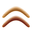 Wooden boomerang vector image vector image
