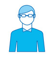 young man with glasses avatar character vector image vector image