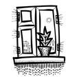 cartoon image of window icon window symbol set vector image