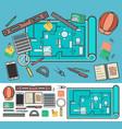 architecture icon set in flat design vector image