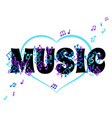 abstract banner music concept i love music vector image vector image