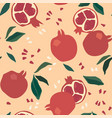 abstract seamless patterns with fruits vector image
