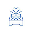 bed for lovers line icon concept bed for lovers vector image vector image