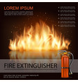 bright fire shiny template vector image vector image
