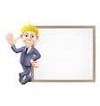 business man and sign vector image vector image