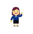 businesswoman cartoon character design vector image vector image