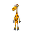 cheerful giraffe isolated vector image vector image