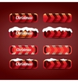 Christmas web buttons set winter web buttons vector image vector image