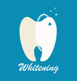 clean and dirty tooth vector image vector image