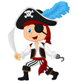 Cute cartoon pirate