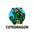 cute dragon cartoon logo icon vector image