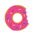 donut with a mouth bite isolated on white vector image