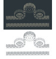 double chain drive vector image vector image