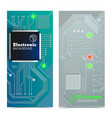 electronic board banners set vector image vector image