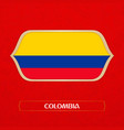 flag colombia is made in football style vector image vector image