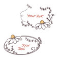 floral text frames vector image