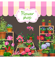flower shop dark vector image