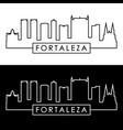 fortaleza skyline linear style editable file vector image