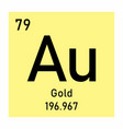gold chemical symbol vector image vector image