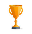 golden metallic winner cup isolated icon vector image