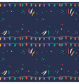 Greeting seamless pattern for New Year vector image vector image
