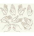 hand drawing sketch vector image vector image