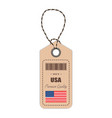 hang tag made in usa with flag icon isolated on a vector image vector image
