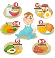 healthy food for babies vector image vector image