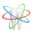 healthy tooth is protected vector image vector image