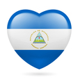 Heart icon of Nicaragua vector image vector image