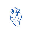 heart sign line icon concept heart sign flat vector image vector image