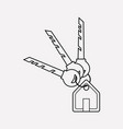 house keys icon line element vector image