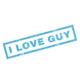I Love Guy Rubber Stamp vector image vector image