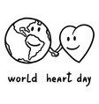 international heart day concept background hand vector image vector image