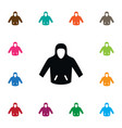 isolated hoodie icon sweatshirt element vector image vector image