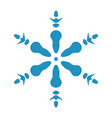 isolated snowflake shape vector image