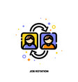 job rotation icon for human resources management vector image vector image