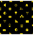 laptop and pc indication icons pattern eps10 vector image vector image