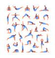 large set yoga asanas vector image