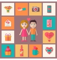 Love icons set vector image