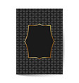 luxury premium cover design with vintage pattern vector image vector image