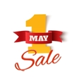 May 1st Sale Labor Day background vector image