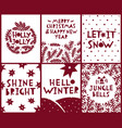 merry christmas and new year greeting card set vector image