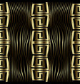 modern gold 3d wave lines greek seamless pattern vector image
