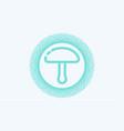 mushroom icon sign symbol vector image vector image