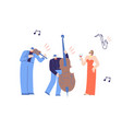 music people playing classic music flat cartoon vector image
