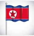 north korea design vector image vector image