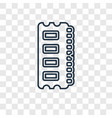 ram memory concept linear icon isolated on vector image