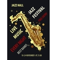 Retro styled Jazz festival Poster Abstract style vector image vector image
